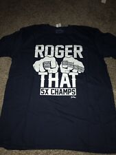 New England Patriots 5x Time Super Bowl Champions Roger That Navy Blue Shirt XL