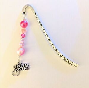 Special sister bookmark with beads sister gifts birthday gifts