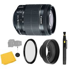 Canon EF-S 18-55mm f/3.5-5.6 IS STM Lens + UV Filter + Collapsible Rubber...