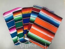 "1 Piece Sarape Runner Mexican Blanket, Saltillo 81"" x 14"" ,Assorted Colors"