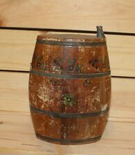 Antique hand made folk wood brandy flask keg