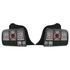 APC Black Diamond Cut Tail Light Lamps Black Housing 2005-2009 Ford Mustang