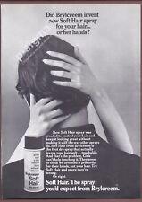 BRYLCREEM Soft Hair Spray 1971 Vintage Print Ad # 148 7