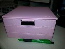 Pink Jewelry Box 3-Tier Velvet Leather, Pandora Charm Stackable - Great Gift!