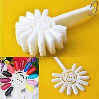 Hot 120 Tips False Nail Art Polish Display Fan Board Sticks Wheel Practice Tool