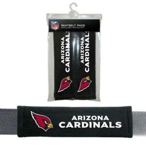 Arizona Cardinals NFL Auto Gym 2pc Seat Belt Pads / Shoulder Pads Covers -New