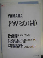 1996 Yamaha PW80 H : Factory Service Manual