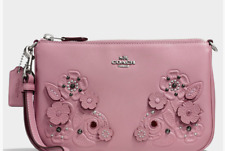 Coach Nolita Wristlet 22 in Gloved-tanned Leather  #12048. Dusty Rose. $225.00.