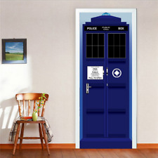New  Wall Decal Doctor Who TARDIS Door Graphic Unique Fathead-Style Sticker