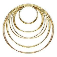 "Metal Hoop Ring Dreamcatcher Craft - 4"" Gold"