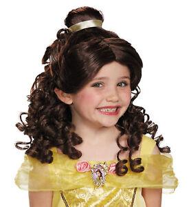 Belle Beauty And The Beast Disney Princess Story Book Week Girls Costume Wig