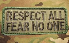 RESPECT ALL FEAR NO ONE BADGE US ARMY USA MULTICAM TACTICAL MORALE VELCRO PATCH