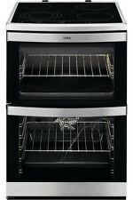 AEG 49176VMN 60cm In Stainless Steel Touch Control Double Oven Ceramic Cooker