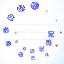 STERLING SILVER STUD EARRINGS 925 SILVER LAB-CREATED PALE AMETHYST