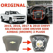 2015 2016 2017 2018 Chevy Silverado 1500 steering wheel airbag BROWN 84057085