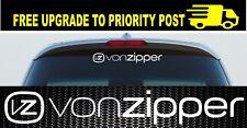 Von Zipper Sticker Decal Large For Car Window Ute Van Skate Surf Sunglasses