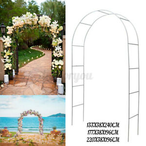 Arch way Assemble Door Wedding Party Bridal Prom Garden Floral Plants Gate Decor
