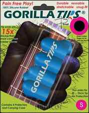 Gorilla Tips Fingertip Protectors Blue Size Small Guitar Banjo Ukulele Bass