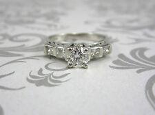 ESTATE PLATINUM LADIES DIAMOND ENGAGEMENT RING 1.07 CT. *GIA $6,000.00*