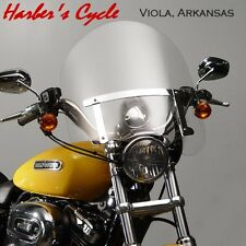 "Yamaha XVS 650 & 1100 V-Star CUSTOM - 20"" Clear Windshield w/Chrome Hardware"