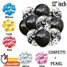 "Metallic Pearl confetti Latex Balloons 12""Inch Wedding Birthday baloons Party UK"