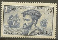 "FRANCE STAMP TIMBRE 297 "" JACQUES CARTIER, BATEAU, CANADA 1F50"" NEUF xx TTB B475"