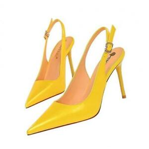 Womens Stilettos High Heels Pointy Toe Party Evening Slingback Shoes D New Sexy