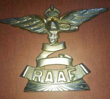 Vintage Ww Ii Raaf Crown and Eagle Large Bumper Badge Emblem