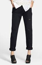 Womens Current Elliot Traveler Jeans 27 Black DESTROYED Distressed