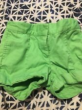 Janie And Jack Adjustable Green Shorts, Size 2