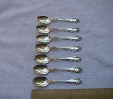 Set 7 Wallace ROSE (1898) Sterling DEMITASSE SPOONS-3 7/8 Inch-Mono F-NR
