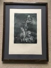 Eugenia Marcos Engraving Listed Mexican Artist Surgiendo Nice 1980 Pencil Signed