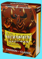 60 DRAGON SHIELD CRIMSON CLASSIC JAPANESE Card Sleeves Mini Deck Protector 10621