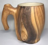 N3 Chope Mug Imitation Bois Vintage Vallauris  Grandjean Jourdan H12,5 L16 l 10