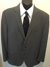 Peter Millar 46T 100% Wool Gray Pinstriped Double Vented Suit/Sports Coat   S3