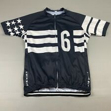 Twin Six Mens XL Club Raglan Cycling Jersey Stars & Stripes Black/White Full Zip