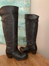 """Frye WMNS """"Jane"""" Tall Boots Black SZ 6 OTK, Cuff Riding Heel NICE!"""