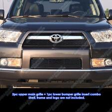 Custom Fits 10-12 2011 2012 Toyota 4Runner Black Billet Grill Combo