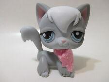 Littlest Pet Shop Cat Angora 345 with Original Accessory Authentic Lps
