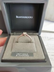 Beaverbrooks 18ct White Gold And Diamond Solitaire Ring Size L Engagement ?