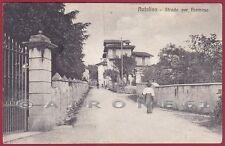 VERBANIA CITTÀ 199 ANTOLIVA - STRADA PREMENO Cartolina viagg. 1912 SCOLLATA !