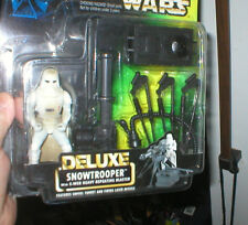 STAR WARS DELUXE SNOWTROOPER WITH E-WEB HEAVY REPEATING BLASTER, UNOPEN