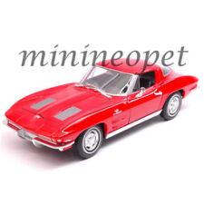 WELLY 24073 1963 CHEVROLET CORVETTE 1/24 DIECAST MODEL CAR RED