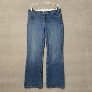 Women's Lands End Jeans Size 10 Original Fit Modern Waist Boot Cut Mid Rise