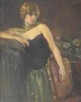 Riccardo GALLI (Milano 1869– Barzio Como 1944) REMEMBER Belle Epoque OLIO 1932