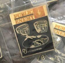 Nos vtg 80s licensed Public Enemy enamel pin * Def Jam shirt jacket hat Rap