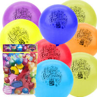 20 x Coloured Latex Party Balloon HAPPY BIRTHDAY Balloons Bag Filler Gift Toy UK