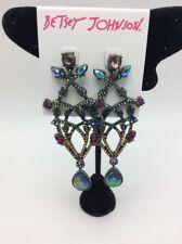 $65 Betsey Johnson Surreal Forest Multi-Color Chandelier Flower Drop Earrings F8