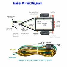 25' 4 Pin Flat Trailer Wiring Harness Kit Wishbone Style for Trailer Tail Lights