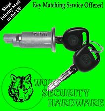 GM Cadillac Chevy Pontiac Saturn Ignition Key Switch Lock Cylinder W/2 GM Keys